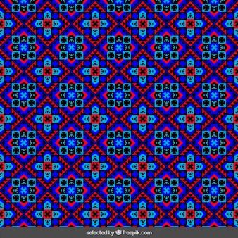 Mosaïque florale géométrique
