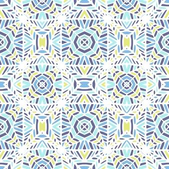 Mosaïque géométrique vectorielle continue faite à la main