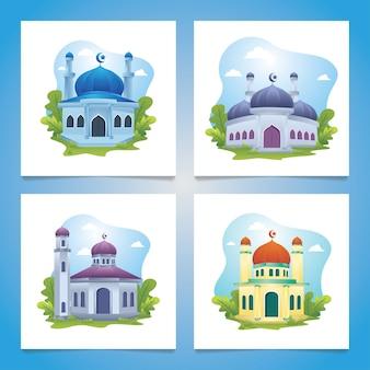 Mosquée à décor floral, ensemble islamique