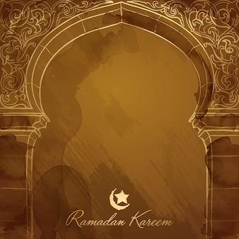 Mosquée design de fond ramadan