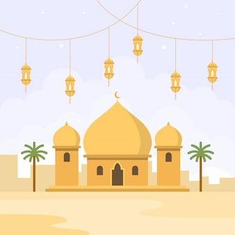 Mosquée design plat