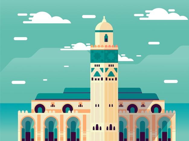 Mosquée islamique sur ciel