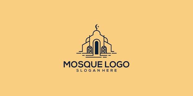 Mosquée logo template design vecteur, emblème, conception de concept, symbole créatif