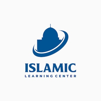 Mosquée logo template design vector, modèle de logo islamique