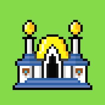 Mosquée avec style pixel art
