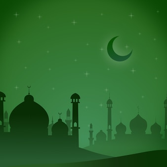 Mosquée verte thème de l'illustration