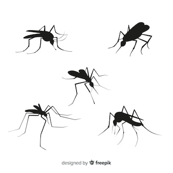 Mosquito silhouette collection of five