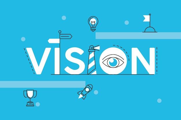 Mot d'affaires de vision