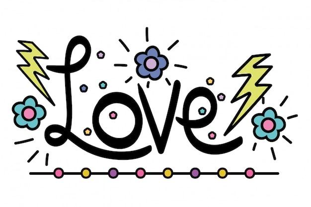 Mot d'amour isolé