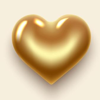 Le mot amour lettres d'or en forme de coeur avec des diamants étincelants bannière de la saint-valentin