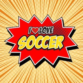 Mot de bande dessinée discours bulle dessin animé j'aime le football