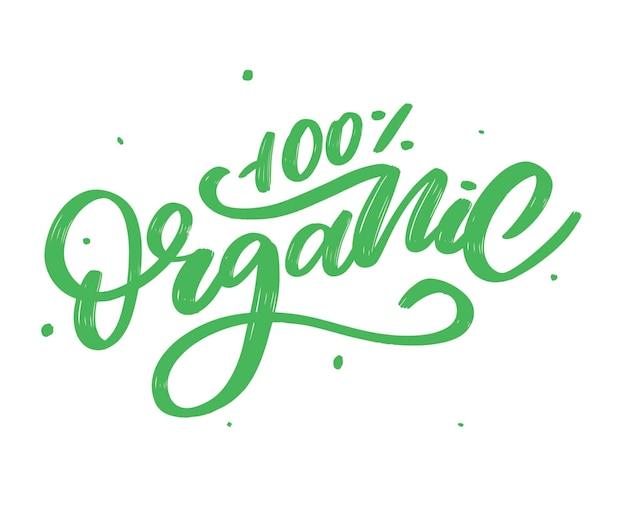 Mot dessiné à la main de lettrage de brosse organique