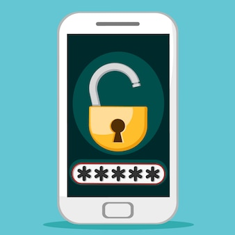 Le mot de passe sur le téléphone mobile. protection dannyc.