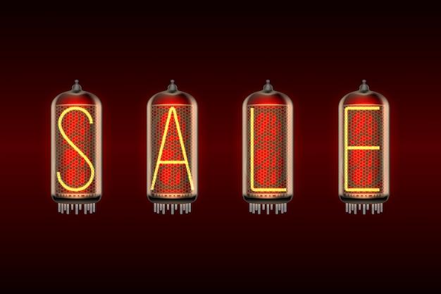 Mot de vente sur les lampes de style tube nixie de style rétro