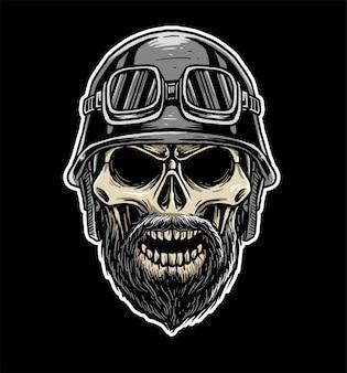 Motard crâne