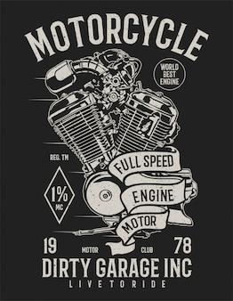 Moteur pleine vitesse de moto