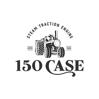 Moteur de traction 150 cas inspiration logo vintage