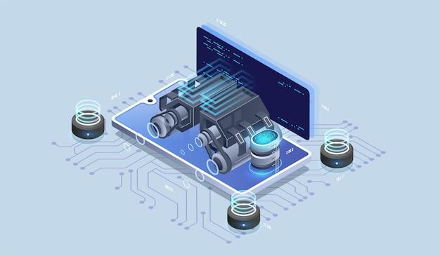 Moteur web, outils de programmation. développement de logiciels. visualisation de la technologie.