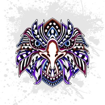 Motif abstrait de l'aigle
