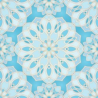 Motif abstrait bleu.