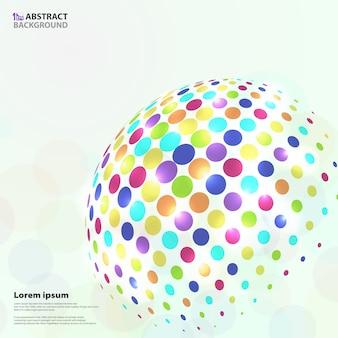 Motif abstrait cercle coloré vif en forme globale