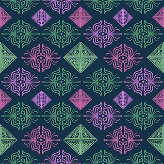 Motif abstrait dessiné main multicolore