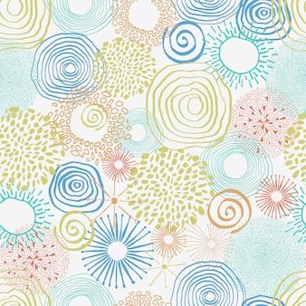 Motif abstrait doodle