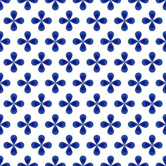 Motif abstrait fleur bleue