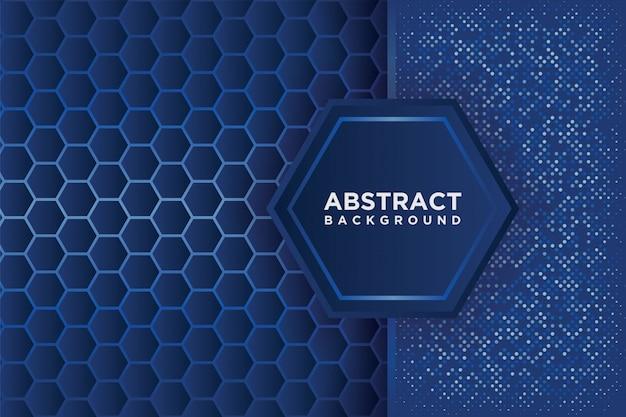 Motif abstrait d'hexagone avec un recouvrement bleu.