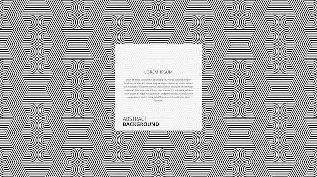 Motif abstrait de lignes circulaires hexagonales décoratives