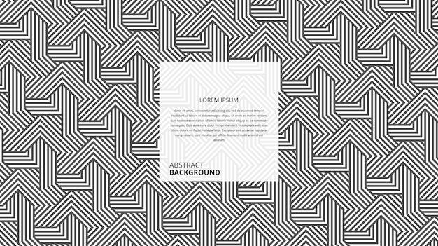 Motif abstrait de lignes décoratives en osier carré diagonal