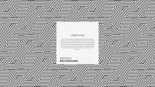 Motif abstrait de lignes décoratives en osier hexagonal