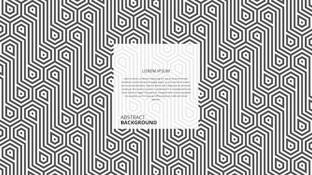 Motif abstrait de lignes droites hexagonales sans soudure