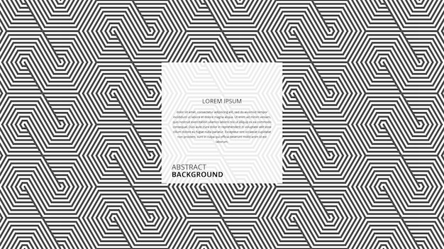 Motif abstrait de lignes de forme hexagonale décorative