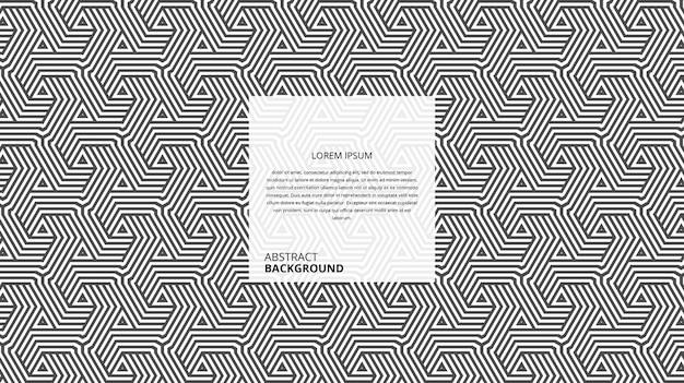 Motif abstrait de lignes de triangle hexagonal décoratif