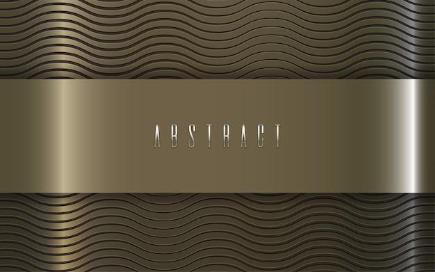 Motif abstrait de luxe texture or vague