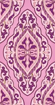 Motif abstrait oriental. ornement rose de vecteur.