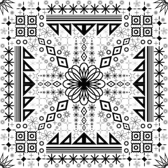 Motif abstrait d'ornement de noël sans soudure géométrique