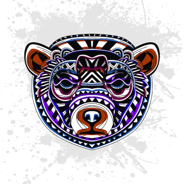Motif abstrait d'ours