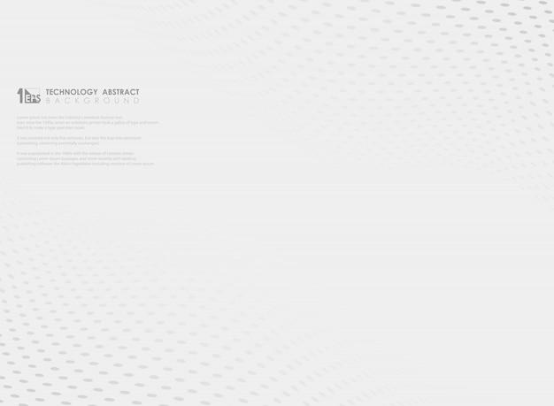 Motif abstrait point gris ondulé sur fond blanc