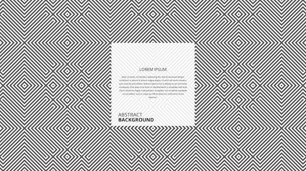 Motif abstrait de rayures carrées diagonales décoratives