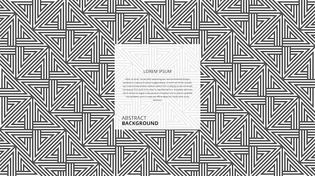 Motif abstrait rayures carrées diagonales