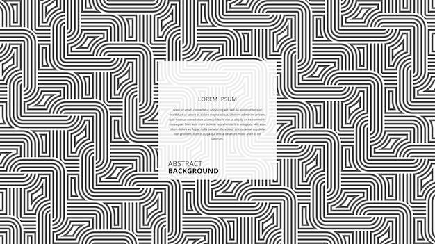 Motif abstrait de rayures de forme carrée curvy décorative