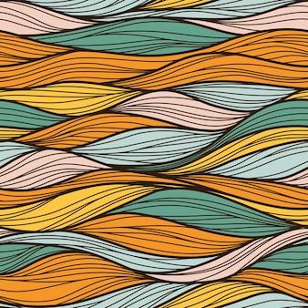 Motif abstrait sans couture. vagues colorées