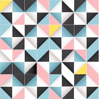 Motif abstrait sans soudure géométrique