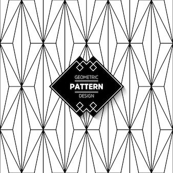 Motif abstrait en style arabe fond de vecteur sans soudure texture en noir et blanc graphique motif moderne