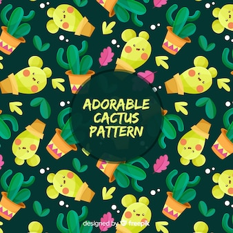 Motif adorable de cactus