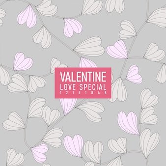 Motif d'amour saint valentin