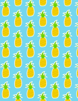 Motif d'ananas sur bleu