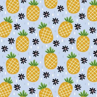 Motif d'ananas d'été